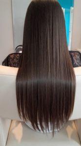 zabieg keratynowego prostowania włosów